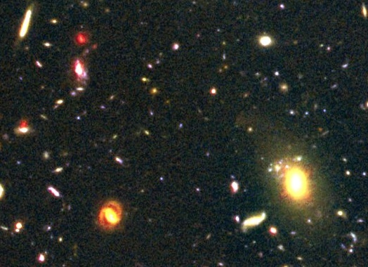 Addition von Hubble Ultra Deep Field 1 (HUDF-1) und HUDF-2